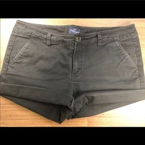 American eagle outfitters black shorts US14